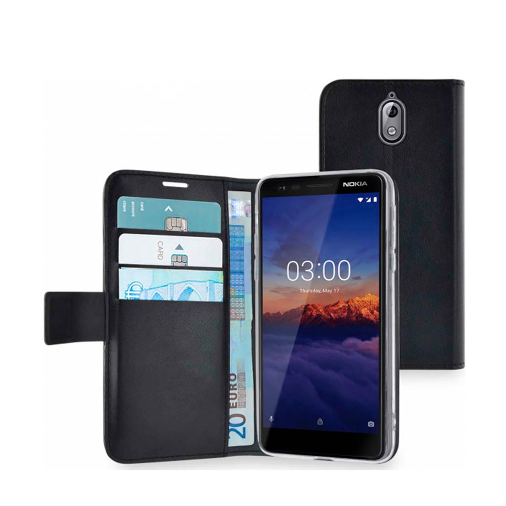 Azuri Nokia 3.1 wallet cover, Zwart