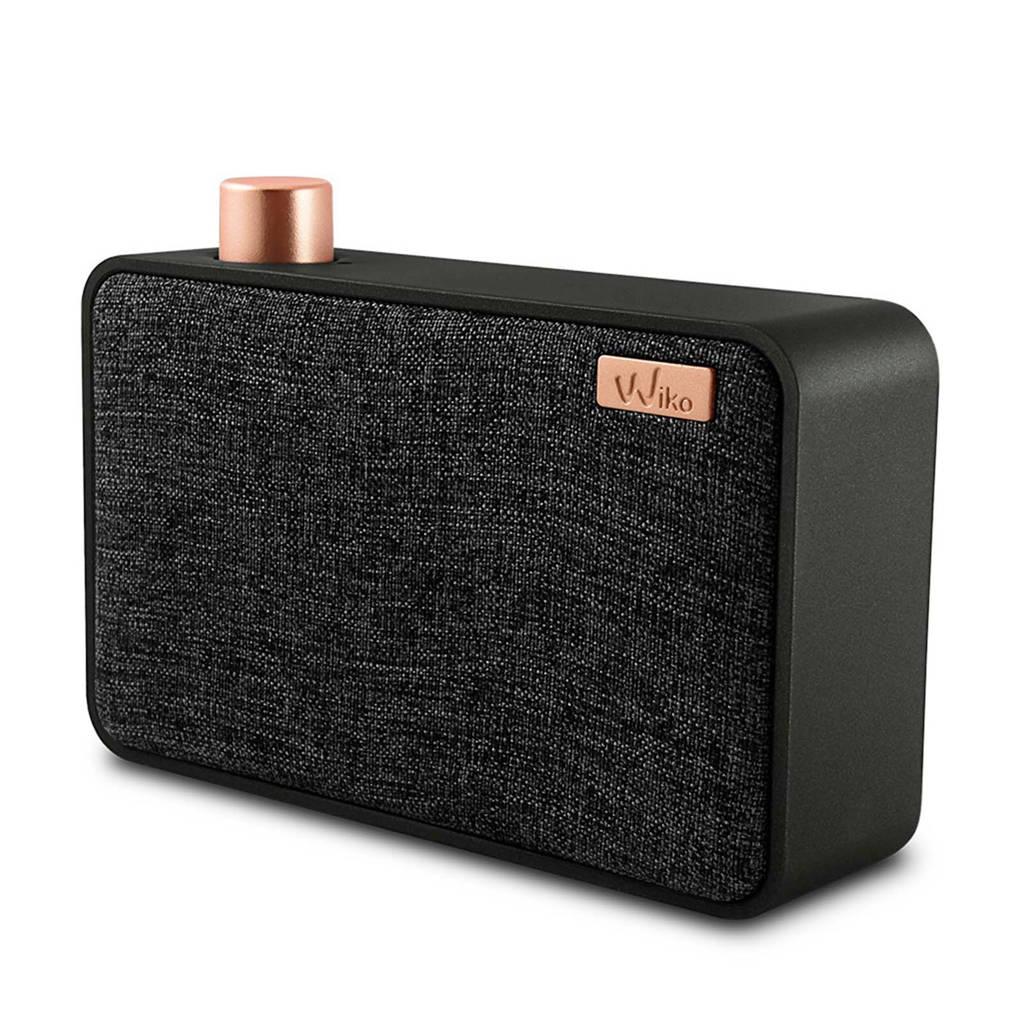 Wiko Wishake  bluetooth speaker zwart, Zwart