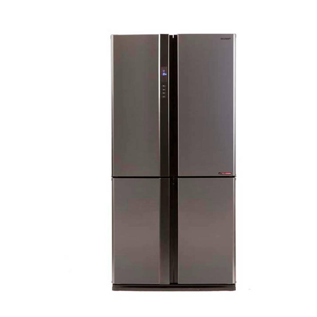 Sharp SJEX820FSL Amerikaanse koelkast, Zilver