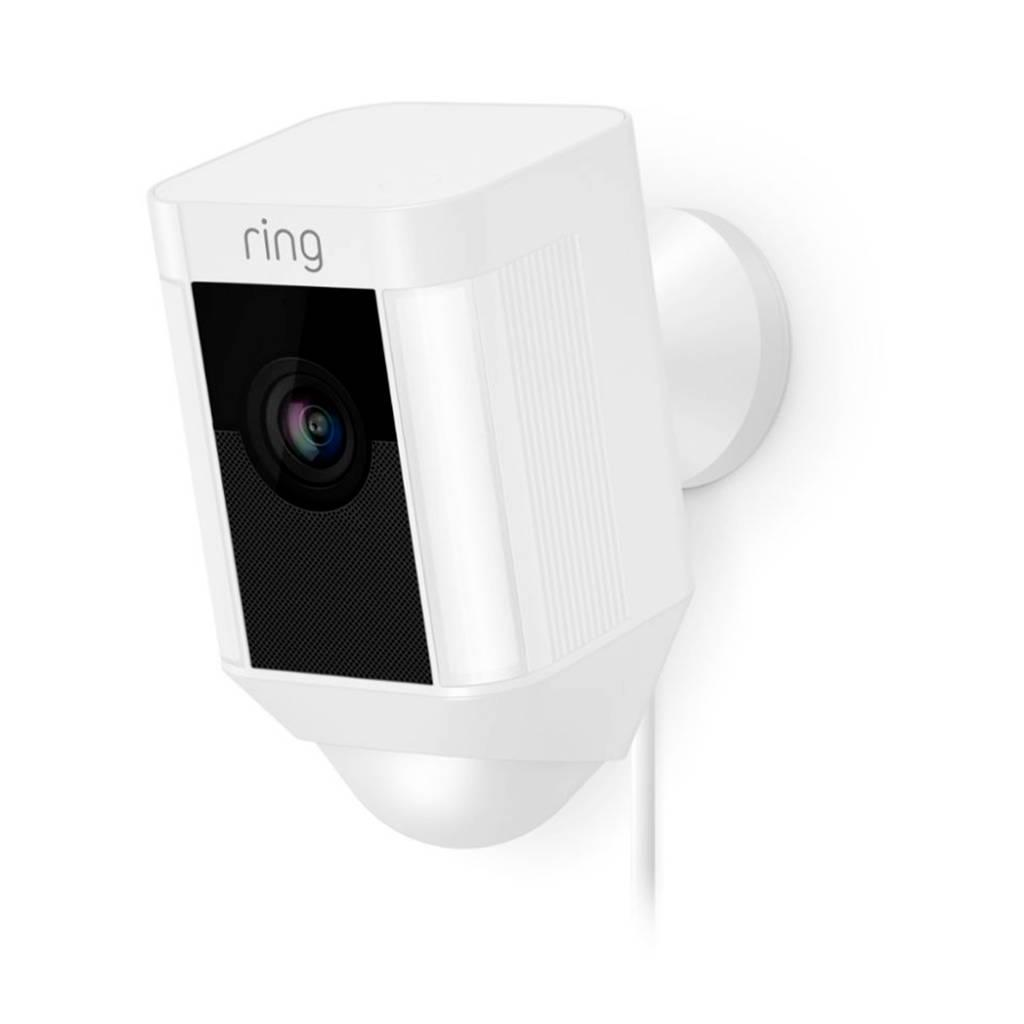 Ring Spotlight netwerkbewakingscamera op netstroom, Wit