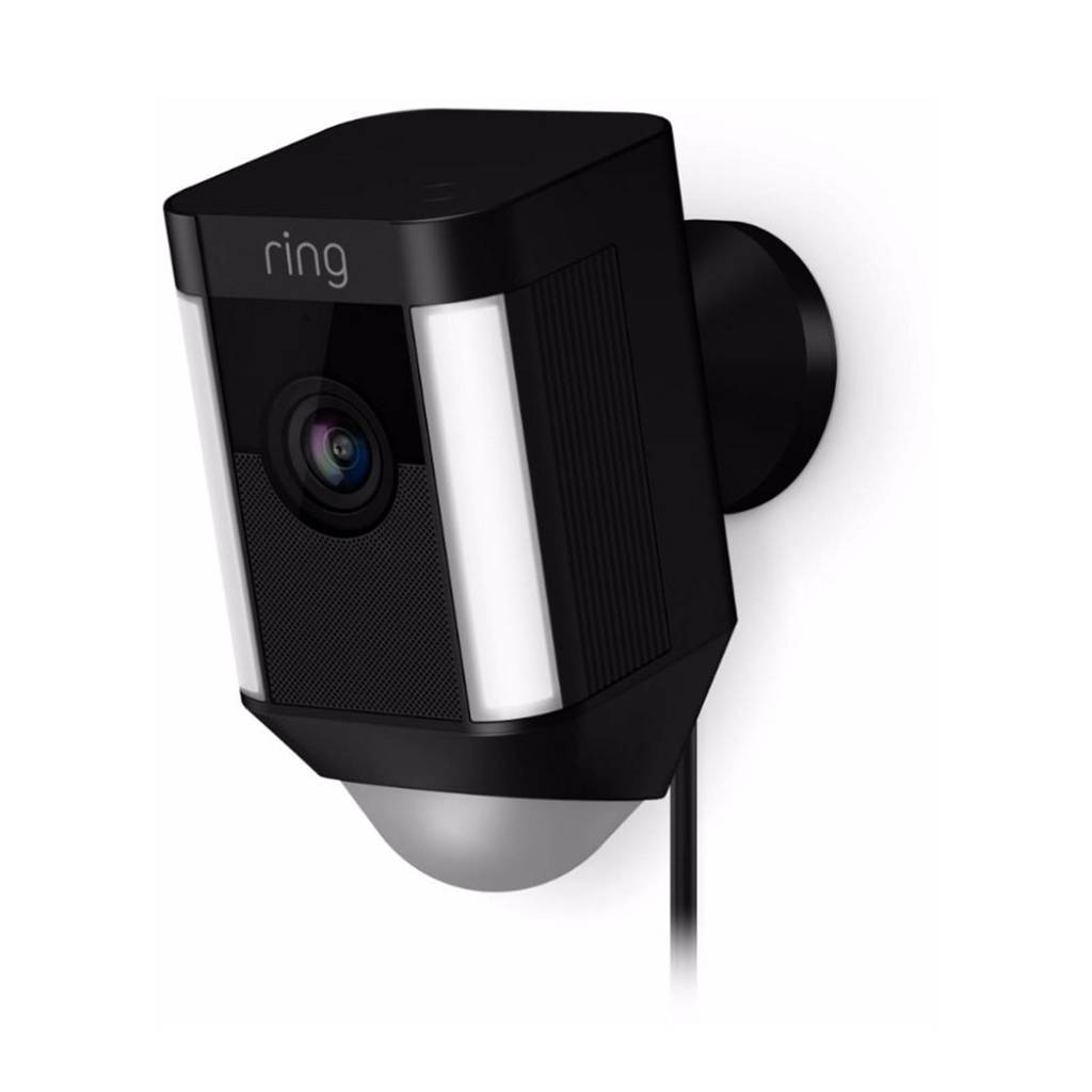 Ring Spotlight netwerkbewakingscamera op netstroom, Zwart