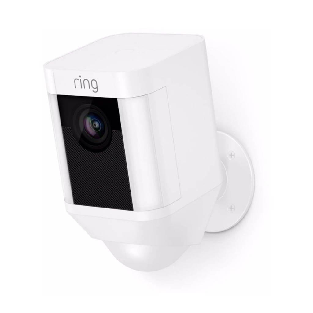 Ring Spotlight draadloos netwerkbewakingscamera, Wit