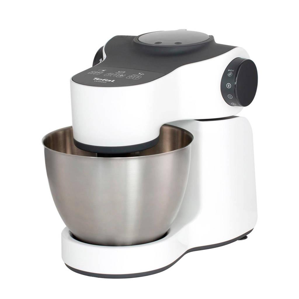 Tefal QB3001 Wizzo keukenmachine, Roestvrijstaal, Wit