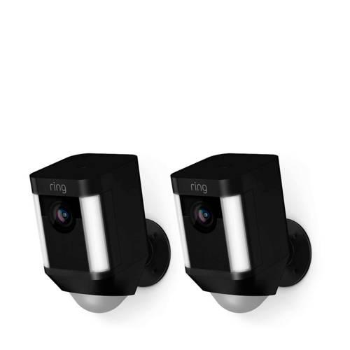 Ring SPOTLIGHT CAM BATTERY - BLACK - DUOPACK beveiligingscamera kopen