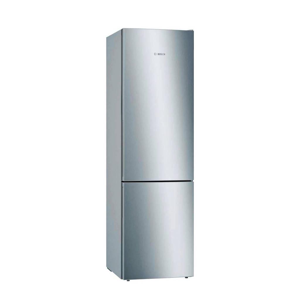 Bosch KGE39VL4A koelvriescombinatie, Deuren RVS look, zijkanten zilver-metallic
