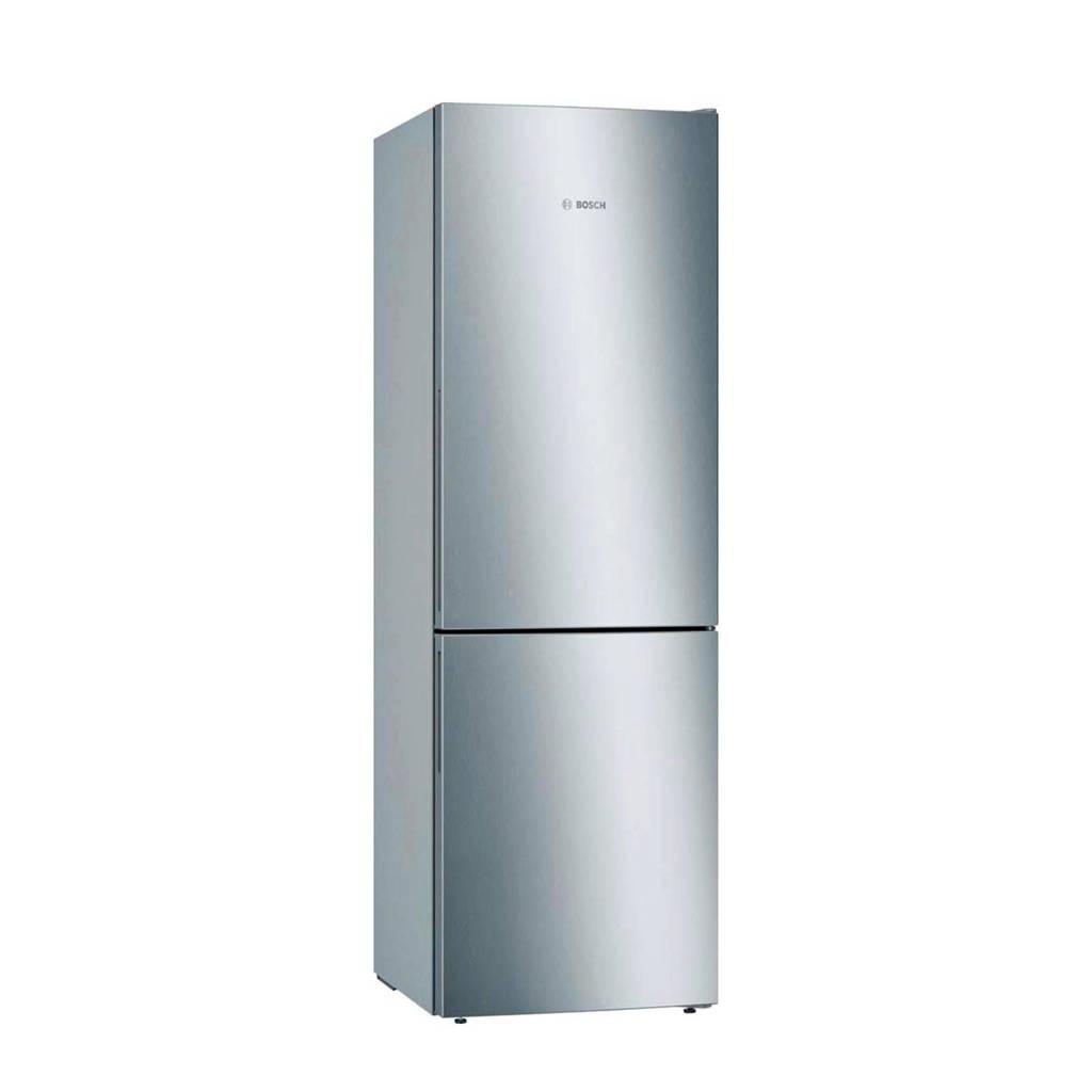 Bosch KGE36VL4A koelvriescombinatie, RVS-look en zilver metallic zijkanten