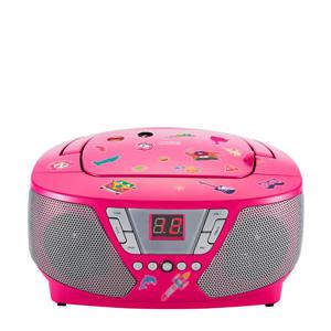 CD60RSSTICK draagbare radio CD speler met stickers roze