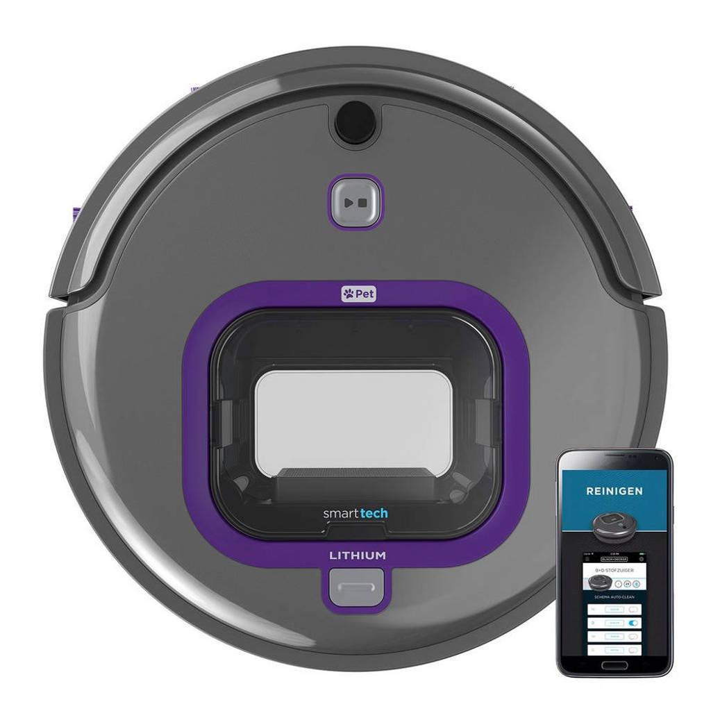 Black+Decker RVA420BP-QW robotstofzuiger, Titanium,Violet