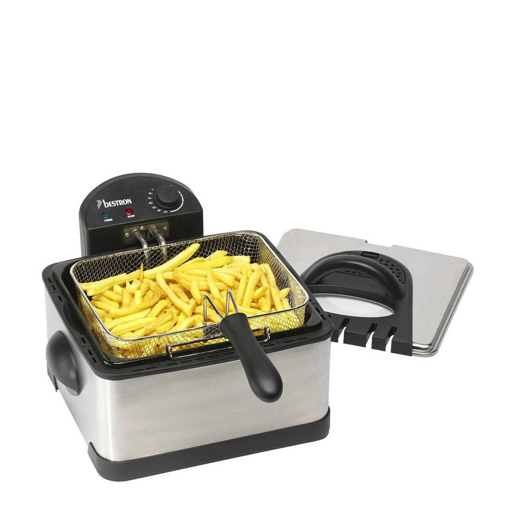 Bestron DF402B friteuse, Zilver, Zwart