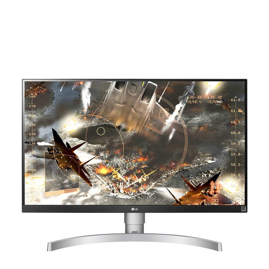 LG 27UK650-W 27 inch 4K Ultra HD IPS monitor, Zilver, wit