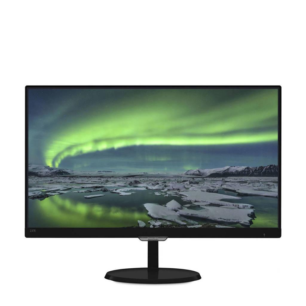 Philips 237E7QDSB 23 inch monitor, Zwart