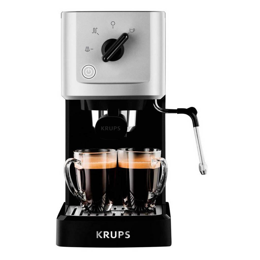 Krups XP3440 Calvi espressomachine, Zwart, zilver