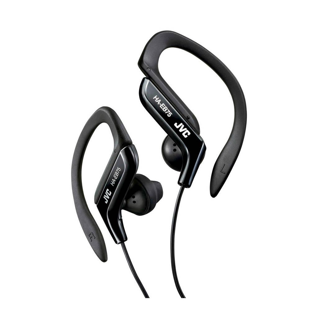 JVC HA-EB75 sport in-ear koptelefoon zwart, Zwart
