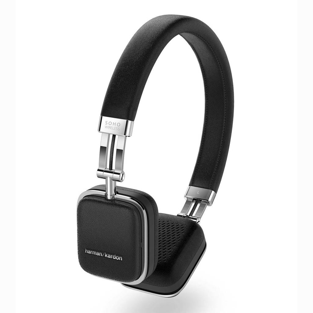 Harman Kardon SOHO on-ear bluetooth koptelefoon zwart, Zwart