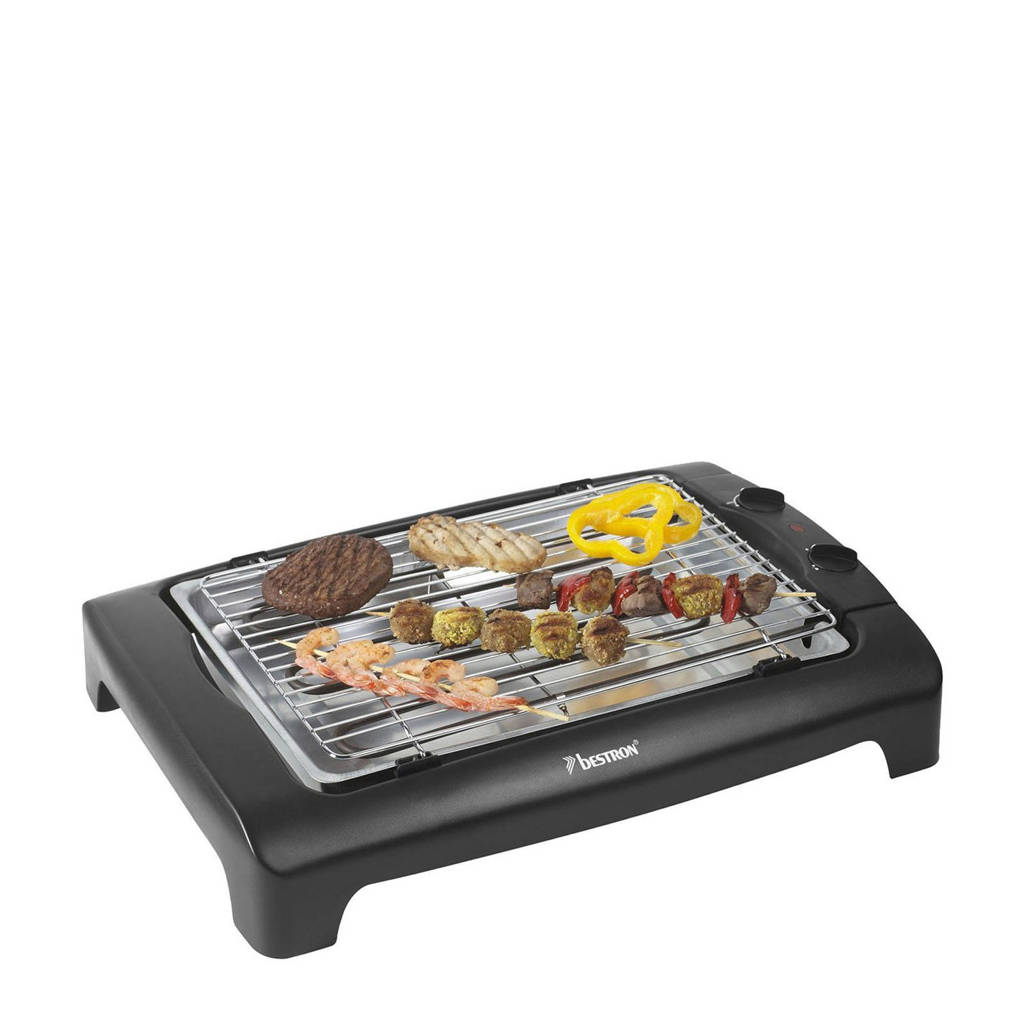 Bestron AJA802T tafelbarbecue/grill, Zwart