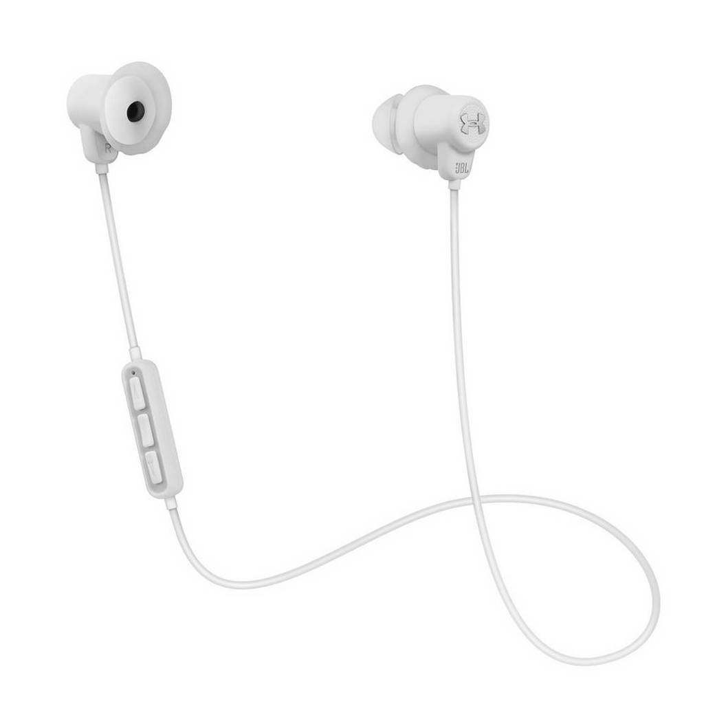 JBL Under Armour Sport Wireless in-ear bluetooth sport koptelefoon wit, Wit