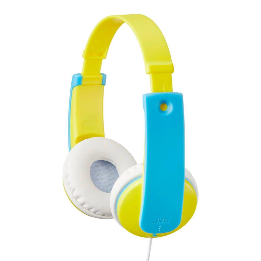 JVC HA-KD7 on-ear kinderkoptelefoon, Blauw, geel