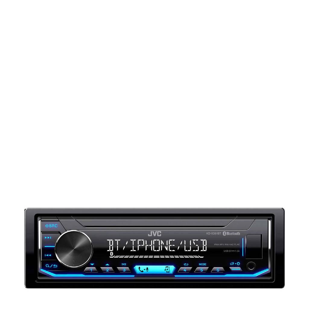 JVC KD-X351BT Autoradio, Zwart