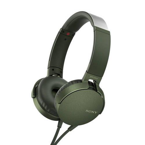 Sony MDR-XB550 on-ear koptelefoon groen kopen