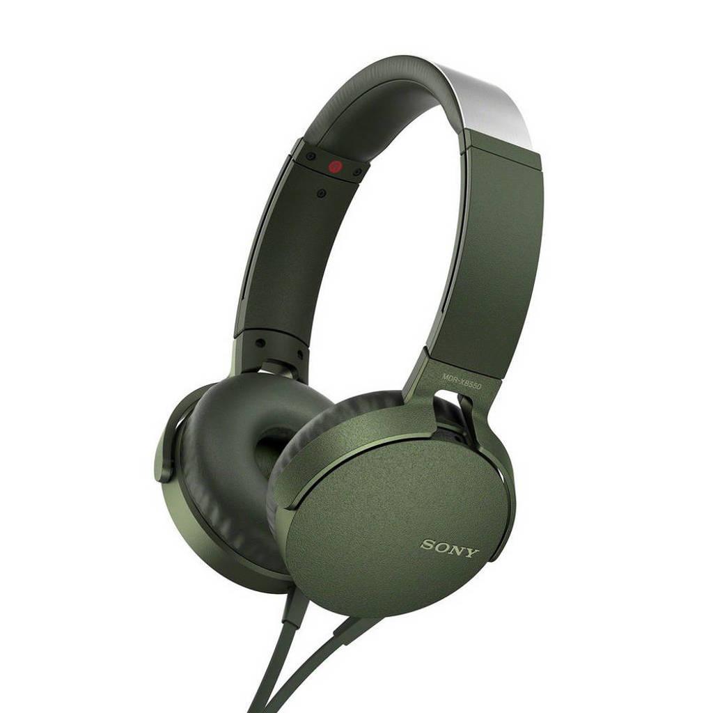 Sony MDR-XB550 on-ear koptelefoon groen, Groen