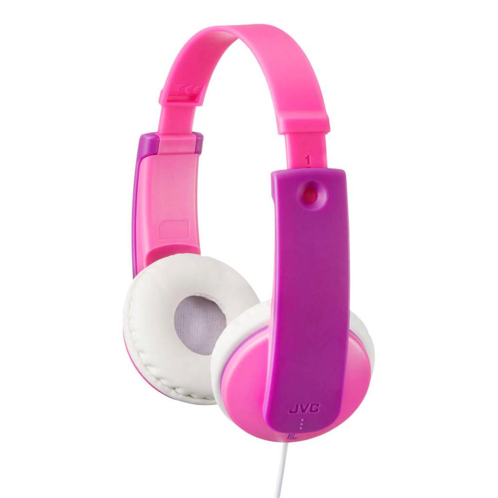 JVC HA-KD7 on-ear kinder hoofdtelefoon roze, Roze