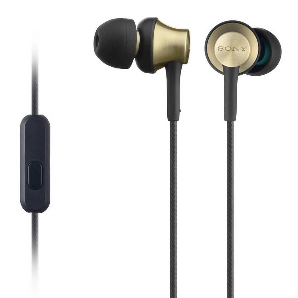Sony EX650AP in-ear koptelefoon zwart, Black,Brass