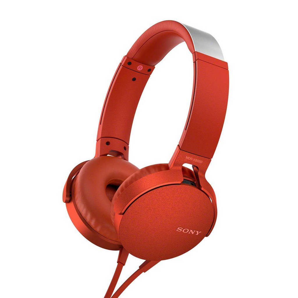 Sony MDR-XB550 on-ear koptelefoon rood, Rood