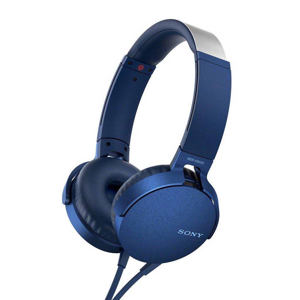 Sony MDR-XB550 on-ear koptelefoon blauw