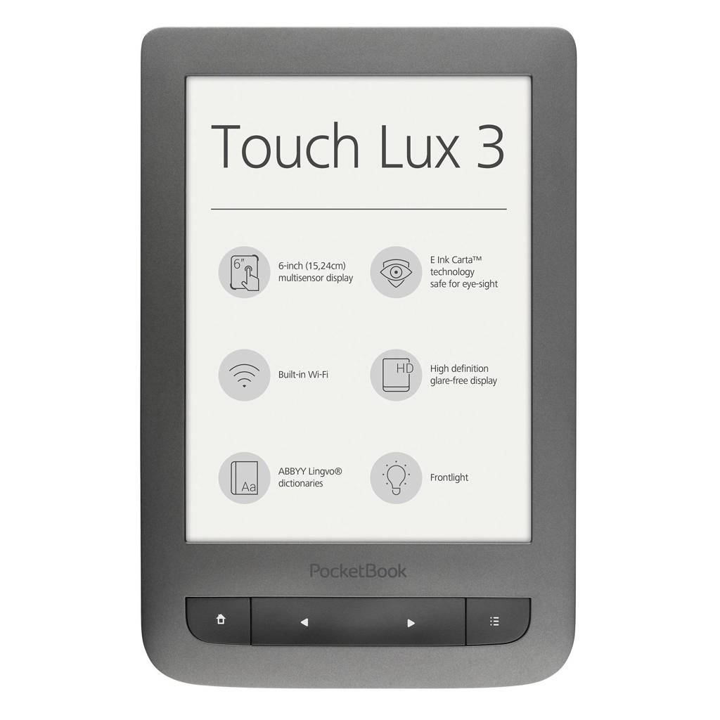 Pocketbook Touch Lux 3 e-reader, Grijs