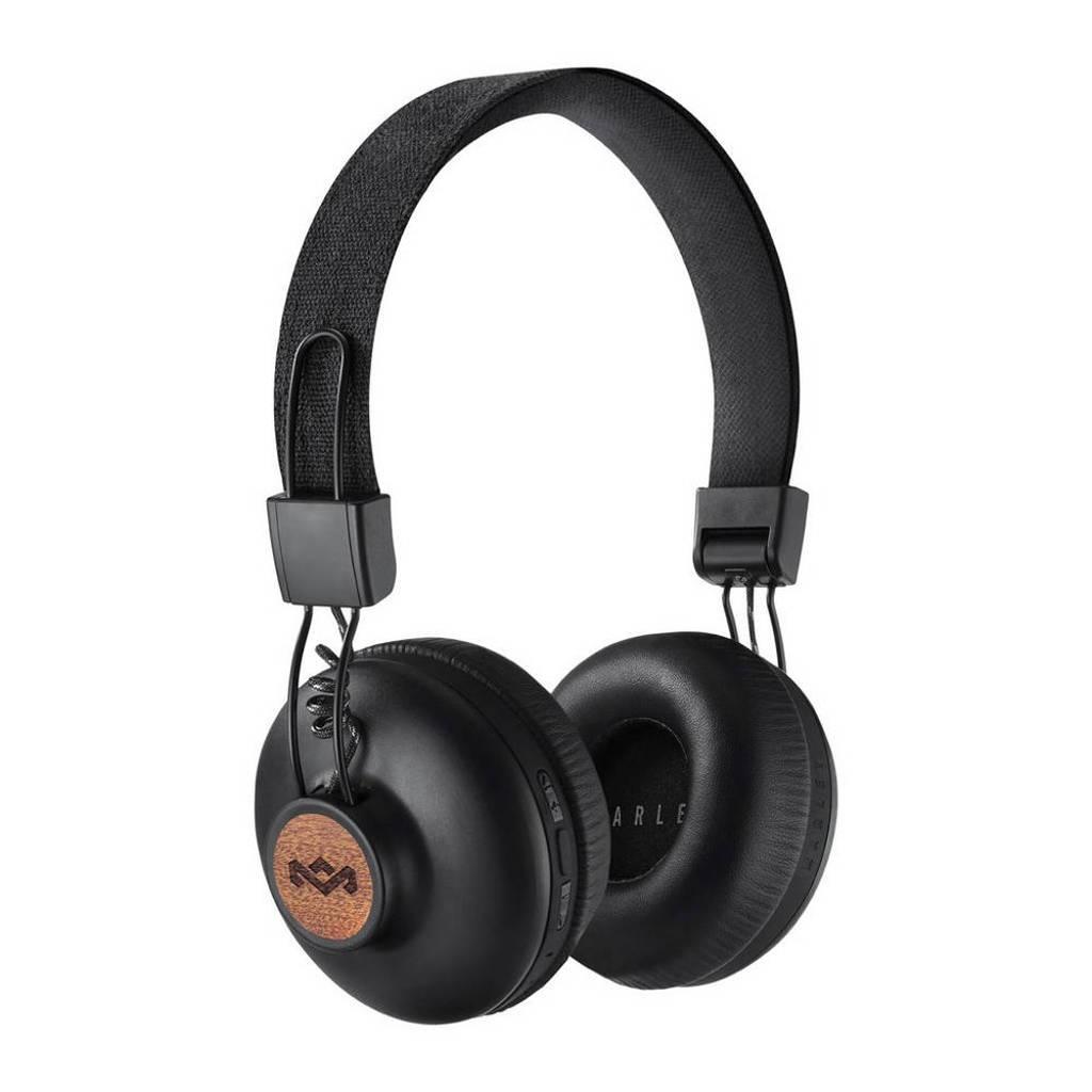 House of Marley Positive Vibration BT on-ear bluetooth koptelefoon zwart, Zwart