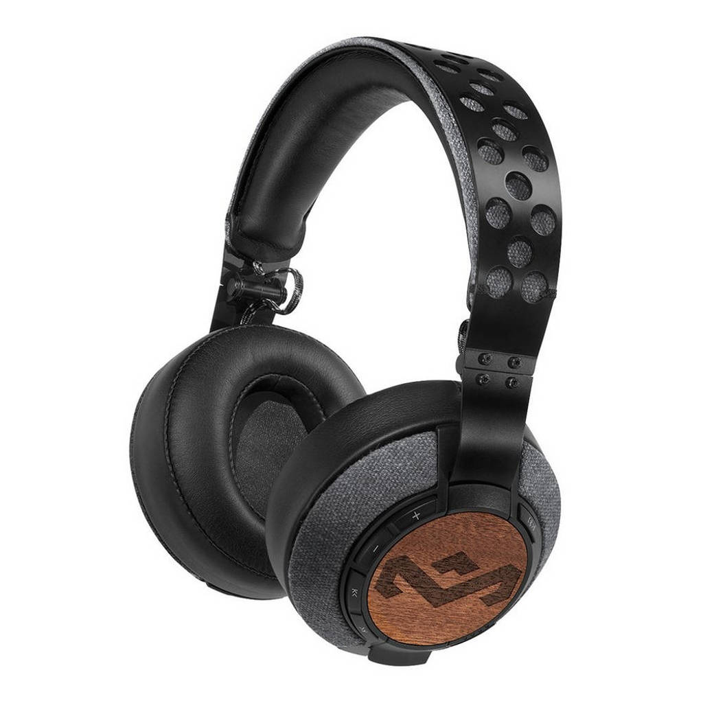 House of Marley Liberate XL BT over-ear bluetooth koptelefoon zwart, Zwart