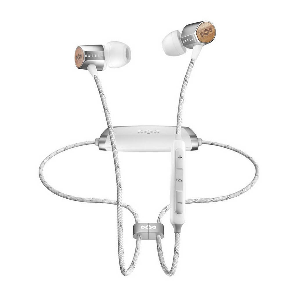 House of Marley in-ear bluetooth koptelefoon Uplift 2.0, Zilver