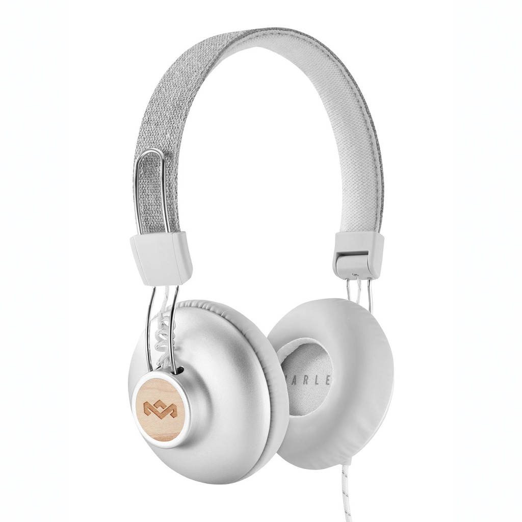 House of Marley Positive Vibration 2.0 on-ear koptelefoon zilver, Zilver