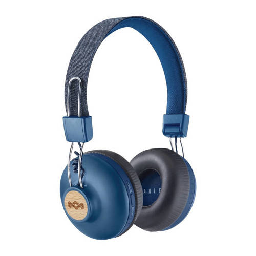 House of Marley Positive Vibration BT on-ear bluetooth koptelefoon blauw kopen