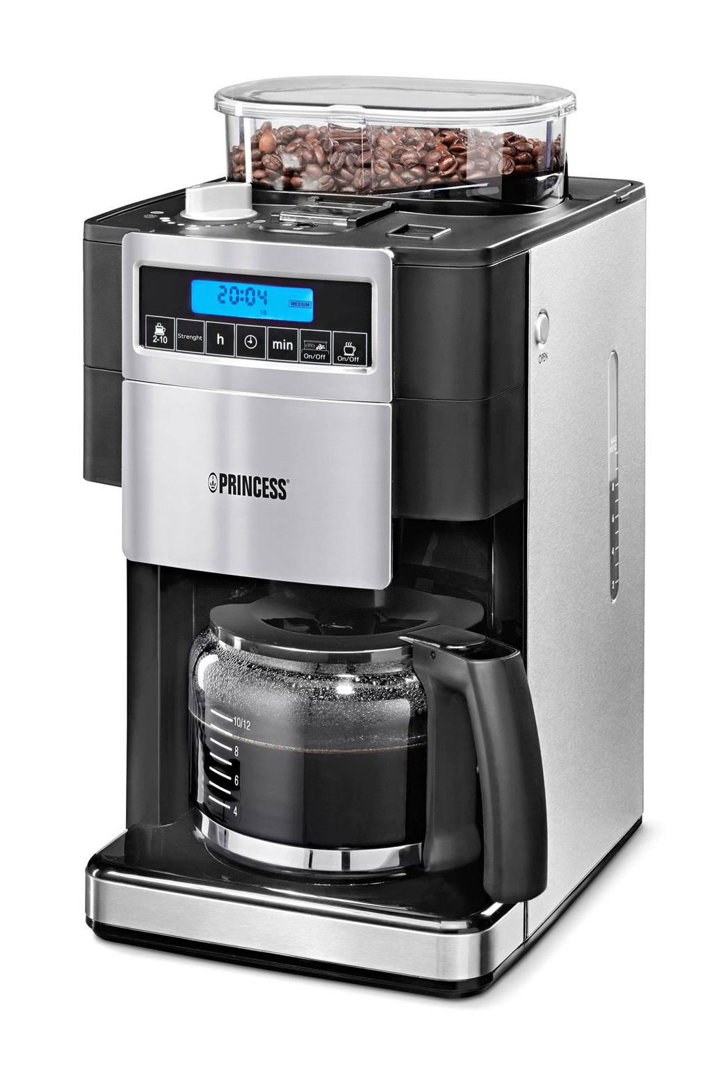 Princess Coffee Maker and Grind DeLuxe -249402 koffiezetapparaat, Zwart, Roestvrij staal