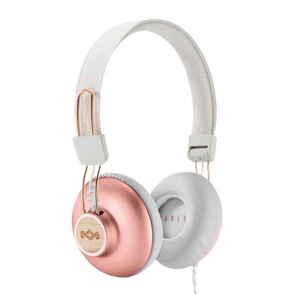 House of Marley Positive Vibration 2.0 on-ear koptelefoon rosé goud, Ros? goud