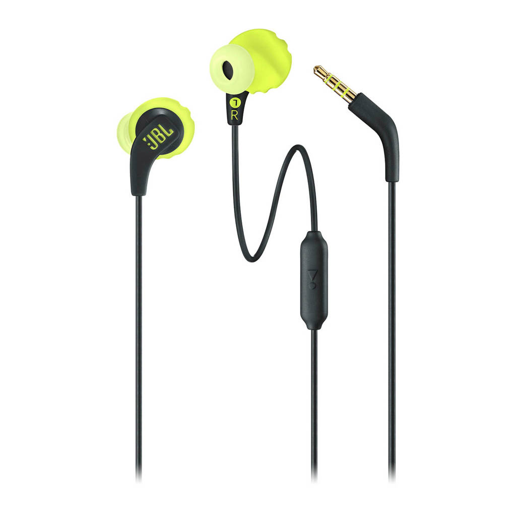 JBL in-ear sport koptelefoon Endurance RUN zwart-lime, Zwart-Lime
