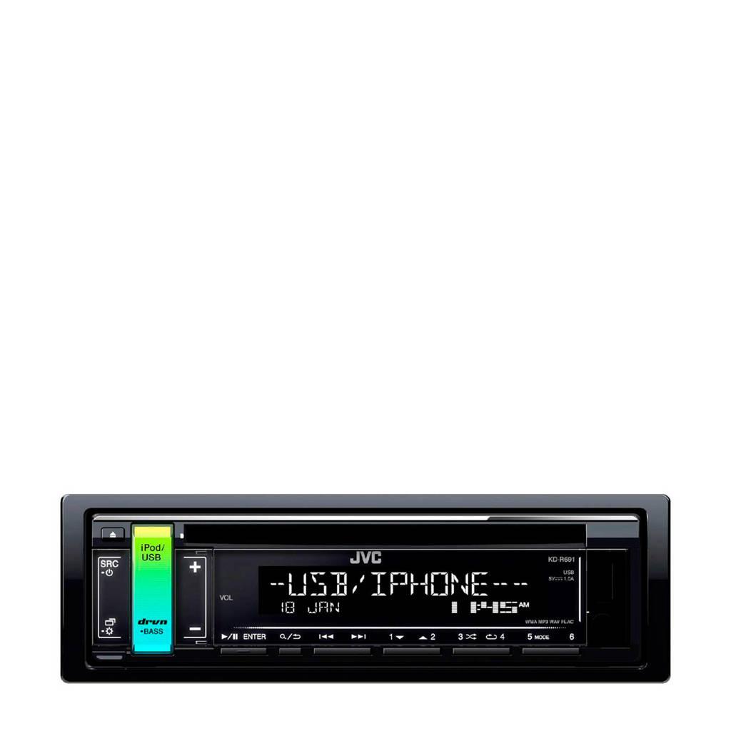 JVC KD-R691 Autoradio, Zwart