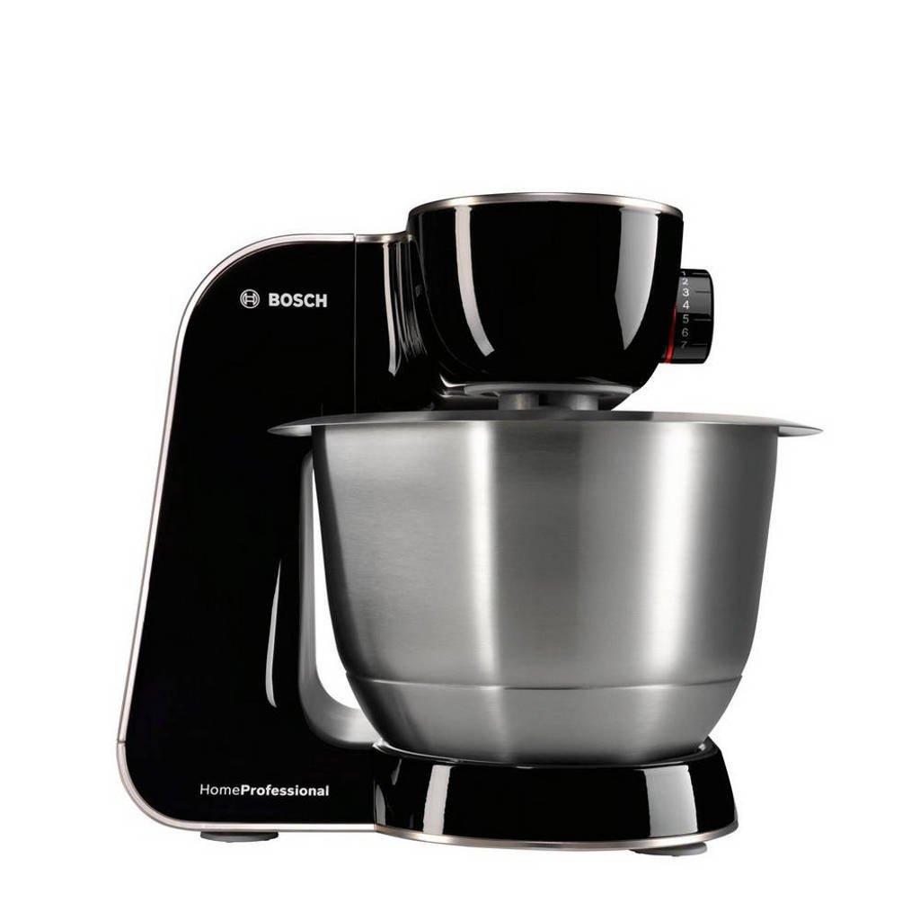 Bosch MUM57B22 keukenmachine, piano zwart/geborsteld RVS
