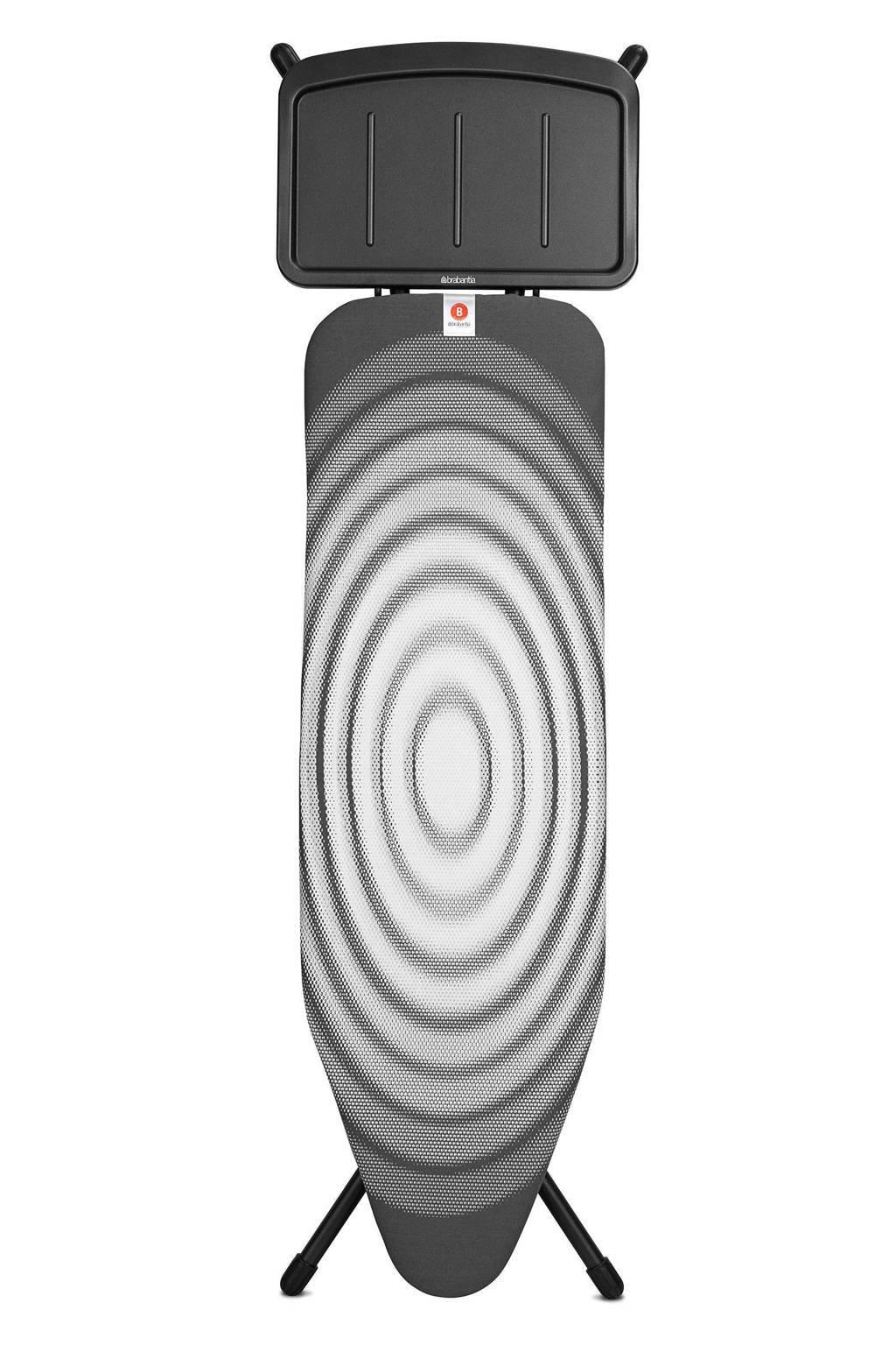 Brabantia Titan Oval, 124x38 cm strijkplank, Zwart