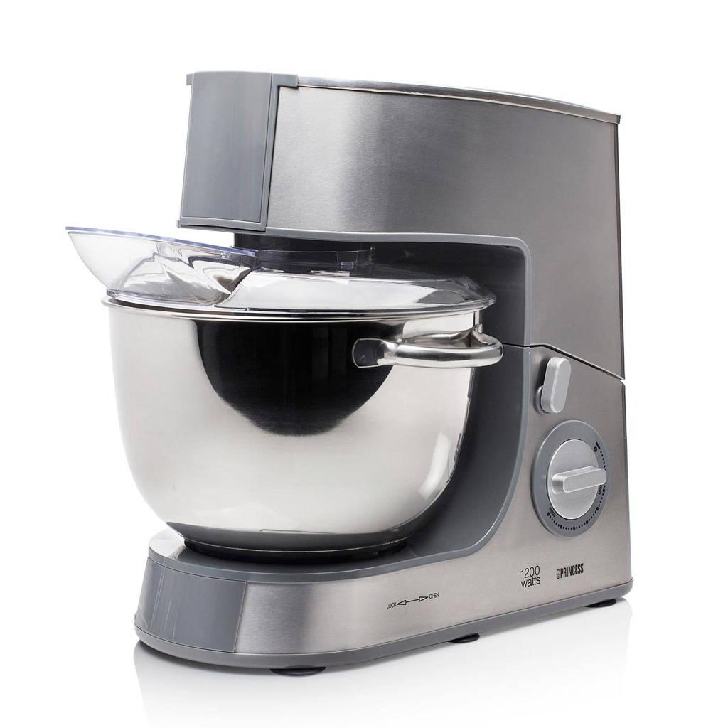 Princess DeLuxe keukenmachine- 220125, Zilver