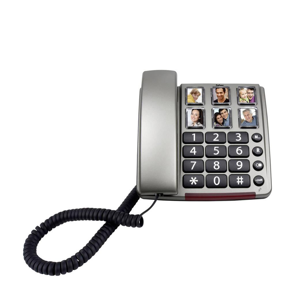 Profoon TX-560 huistelefoon, Zwart, Roestvrijstaal