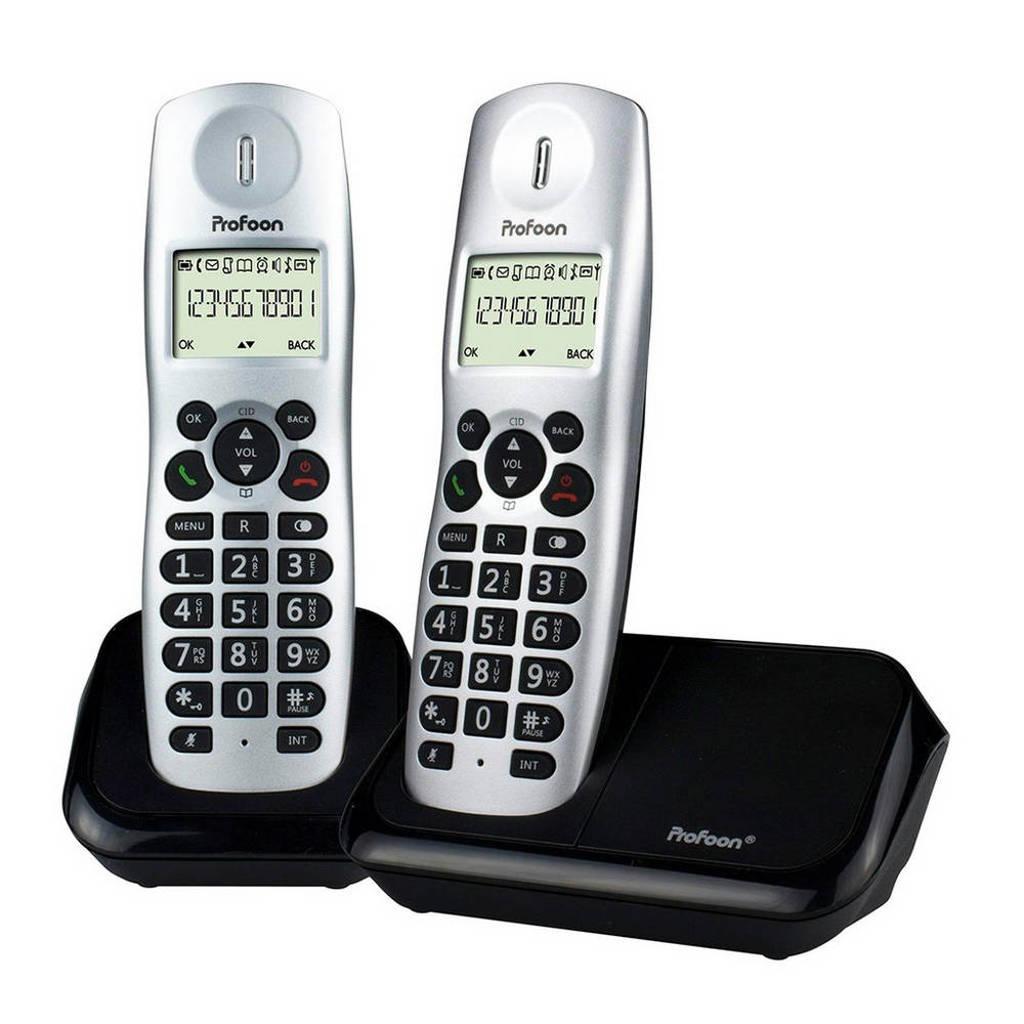 Profoon PDX-8320 huistelefoon, Zilver/zwart