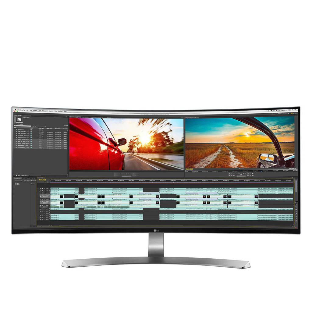 LG 34UC98-W 34 inch UltraWide curved IPS monitor, Zwart, wit