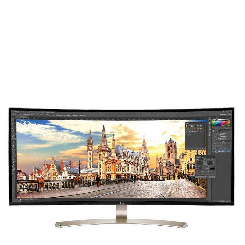 LG 38UC99 37,5 inch UltraWide curved IPS monitor, Wit
