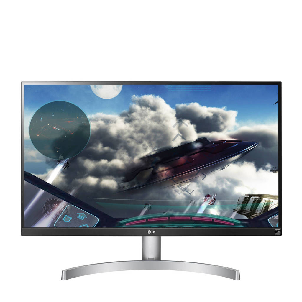 LG 27UK600-W 27 inch 4K Ultra HD IPS monitor, Black,Silver,White