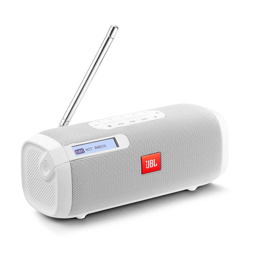 JBL TUNERWHTEU  bluetooth-luidspreker met DAB/FM-radio, Wit