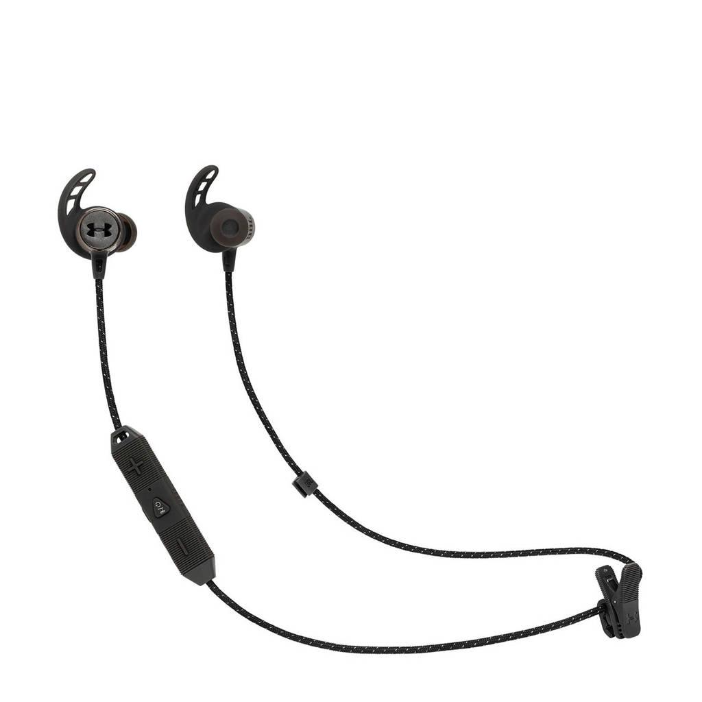 JBL REACTBLK Bluetooth oortjes, Zwart