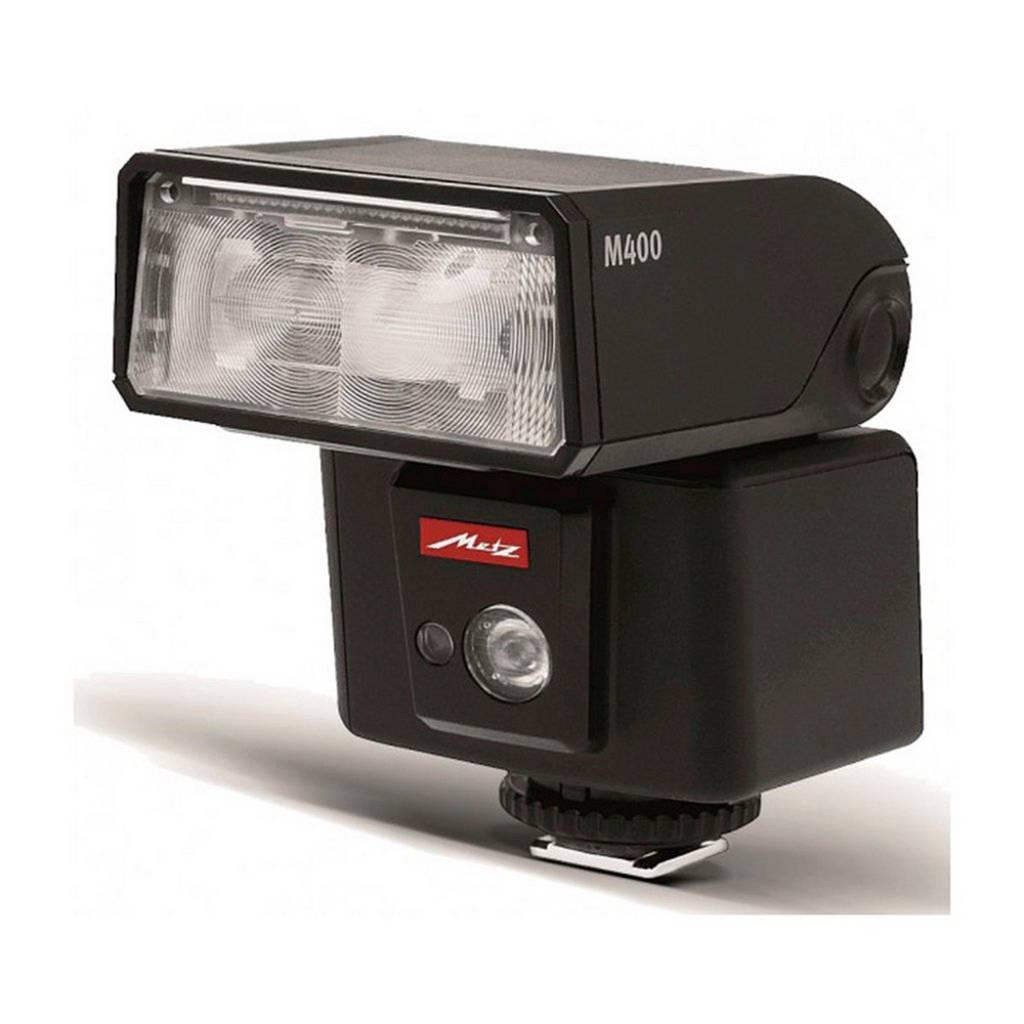 Metz Mecablitz M400 Nikon flitser, Zwart