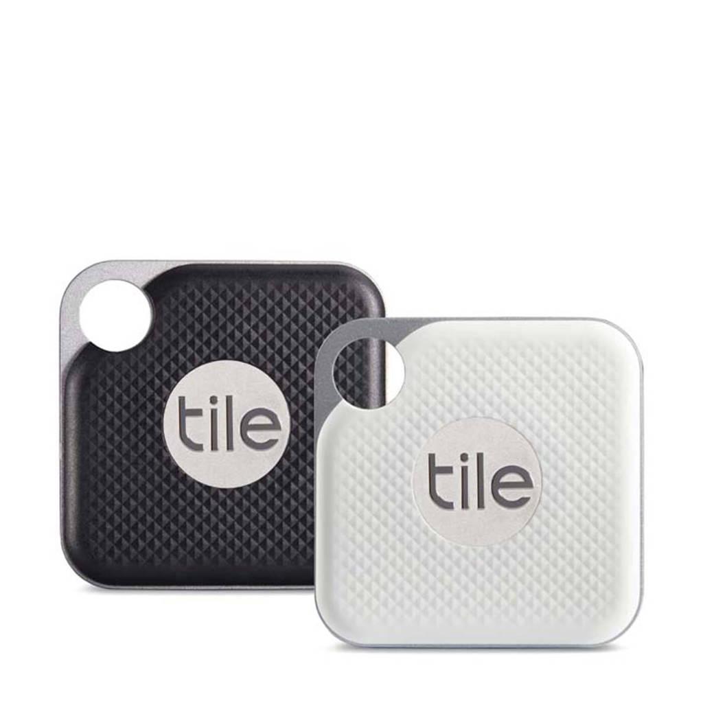 Tile PRO BLACK AND WHITE 4-pack tracker, Zwart en wit